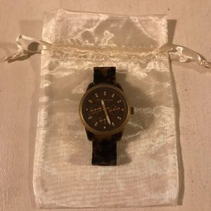 Women's Michael Kors tortoise shell watch